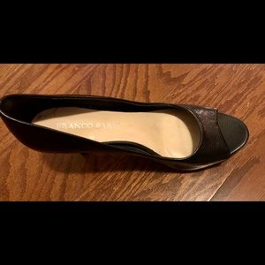 Franco Sarto Open Toe Heels, Size 8
